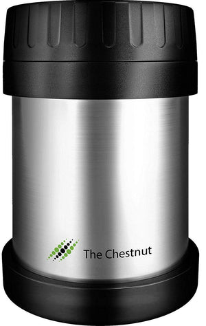 Small Thermos Food Jar for Women, Men & Kids - Stainless Steel Thermo Lunch Box- Silver