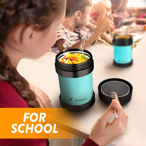 Small Thermos Food Jar for Women, Men & Kids - Stainless Steel Thermo Lunch Box -Sky Blue