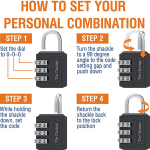 Padlock with 3 Digit Combination