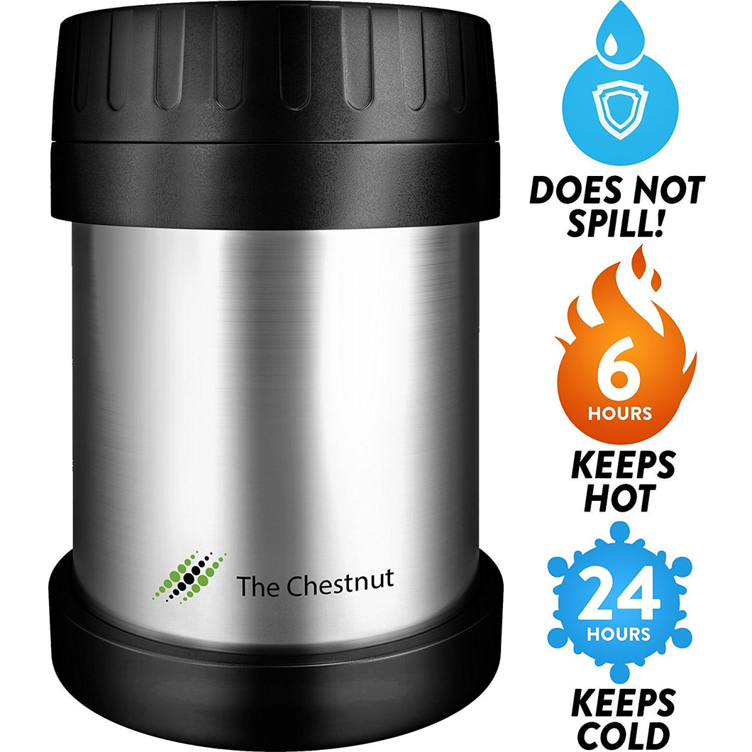 Thermos Food Jar for Women & Men 10oz - Insulated Stainless Steel Thermo Lunch Box - Small Travel Vacuum Metal Container - Hot Food Soup Thermos