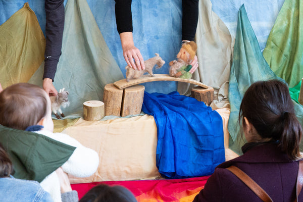 The Waldorf Puppet Troupe Performed at Little Moon + Arrow