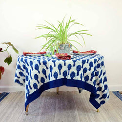 Ichcha - Magnolia Block print Tablecloth