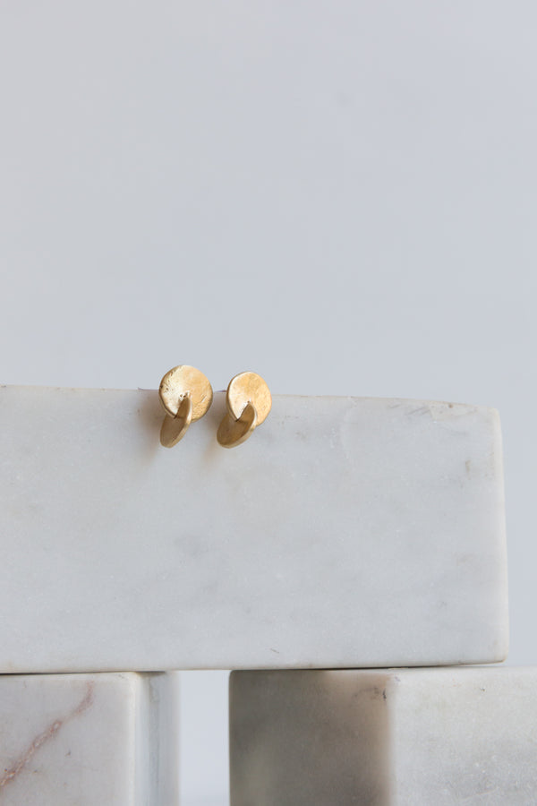 8.6.9 Brass Two Disc Earrings
