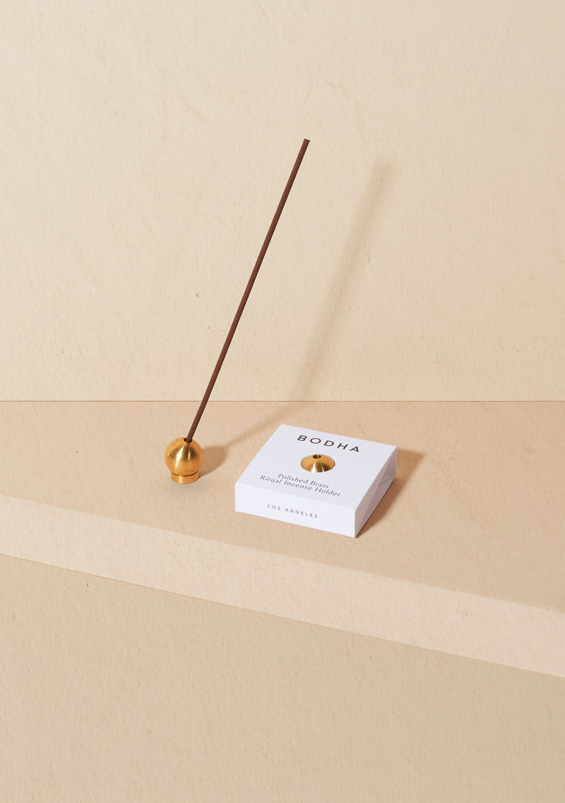 Bodha Ritual Incense Holder - Polished Brass