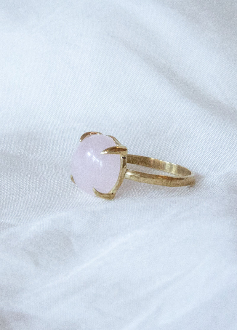 M+A Round Rose Quartz Ring