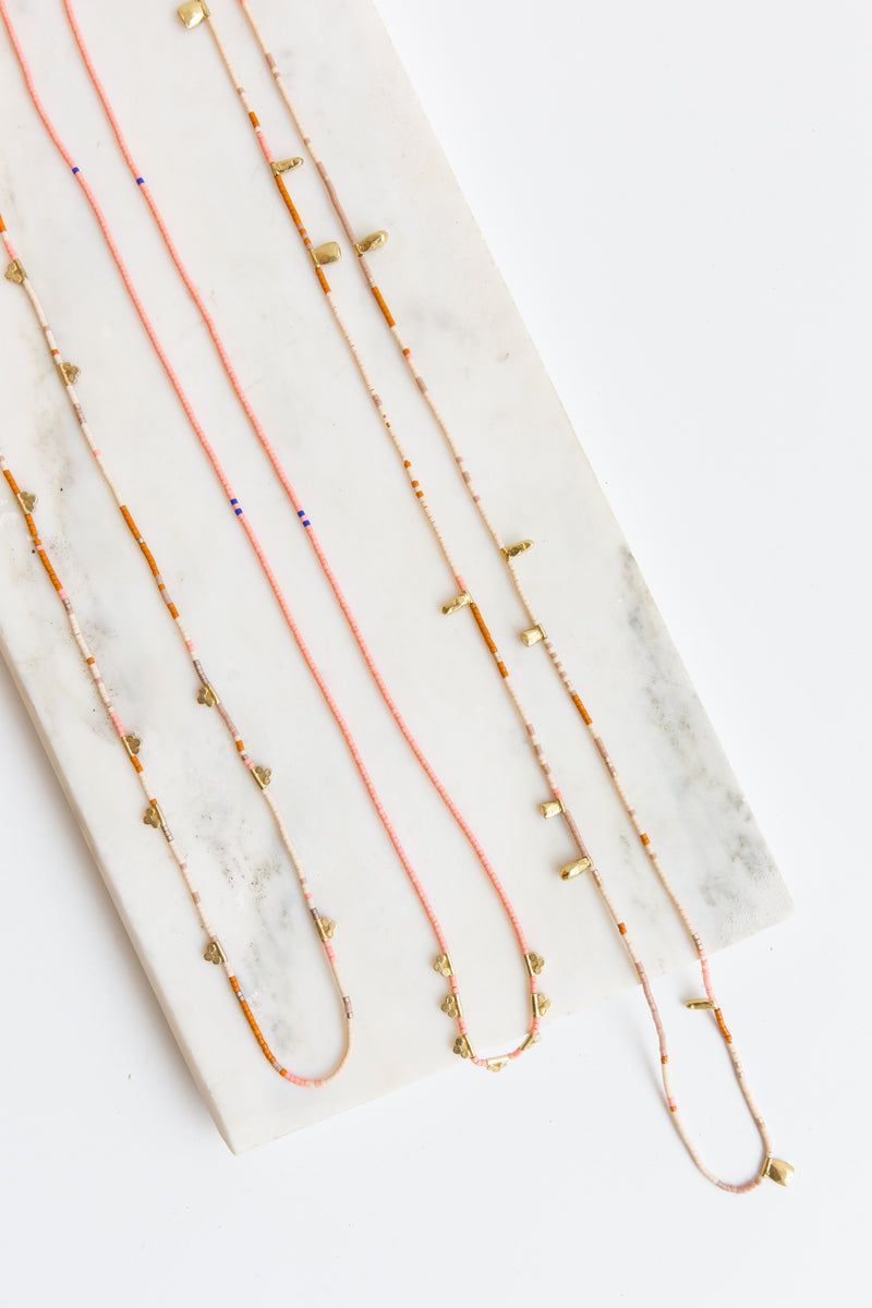 Satomi Lucky Loop Glass Beaded Necklace