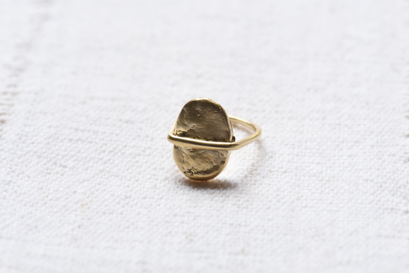 8.6.4 Brass River Stone Ring