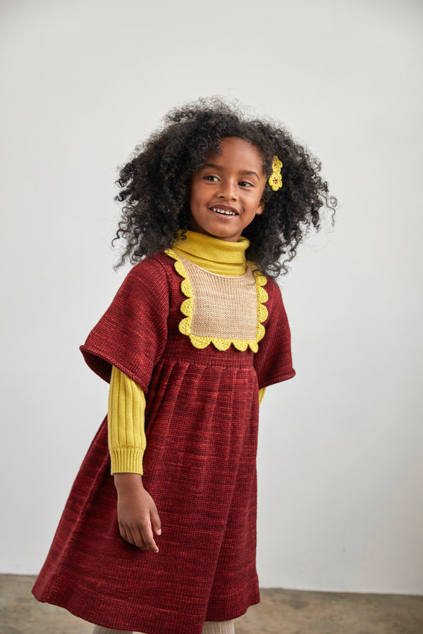 Misha & Puff Scallop Bib Dress