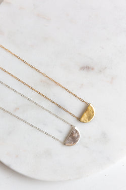 M+A Half moon necklace