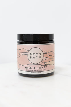 Moon Bath Milk + Honey Sea Bathing Salt