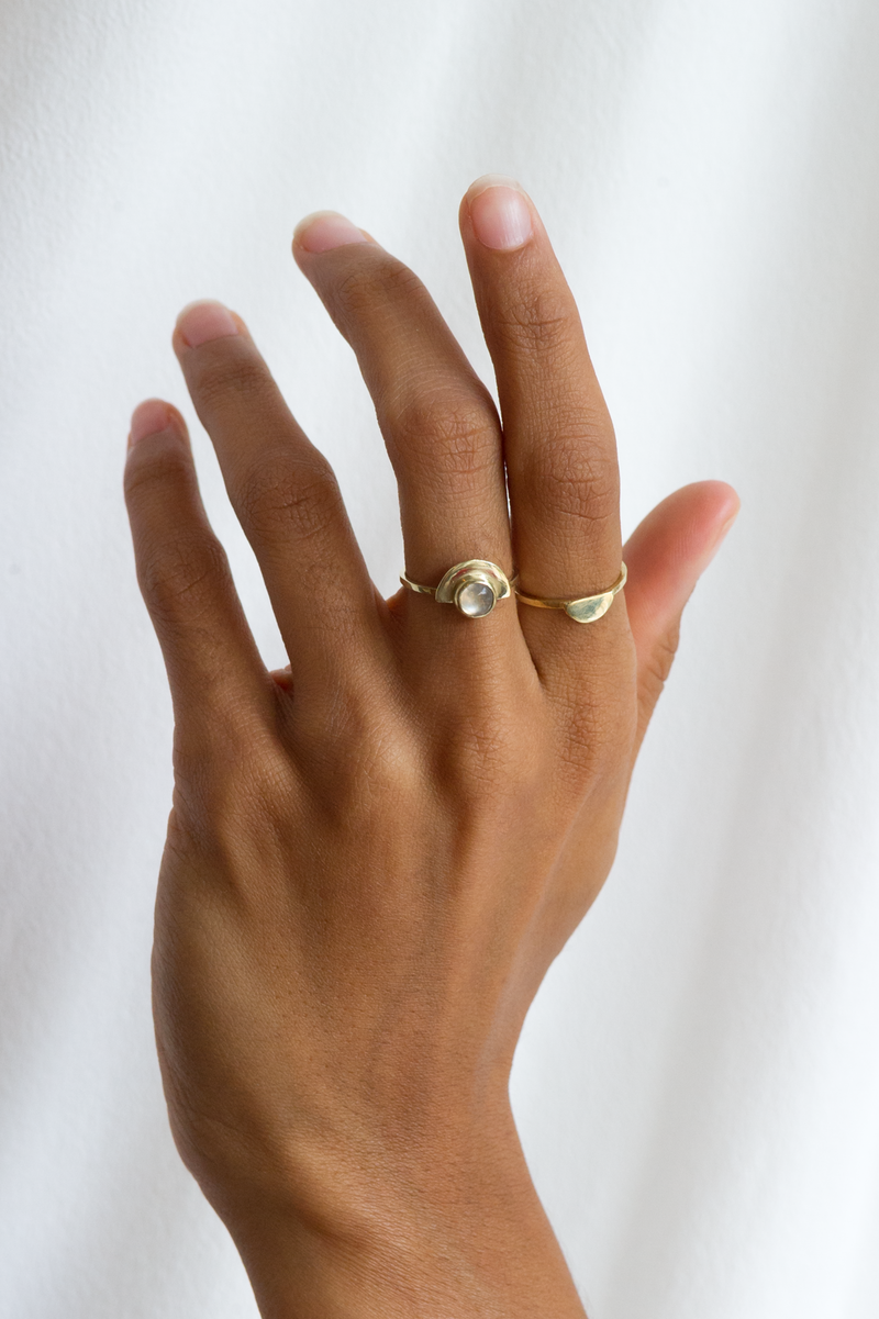 M+A Arch Moonstone Ring