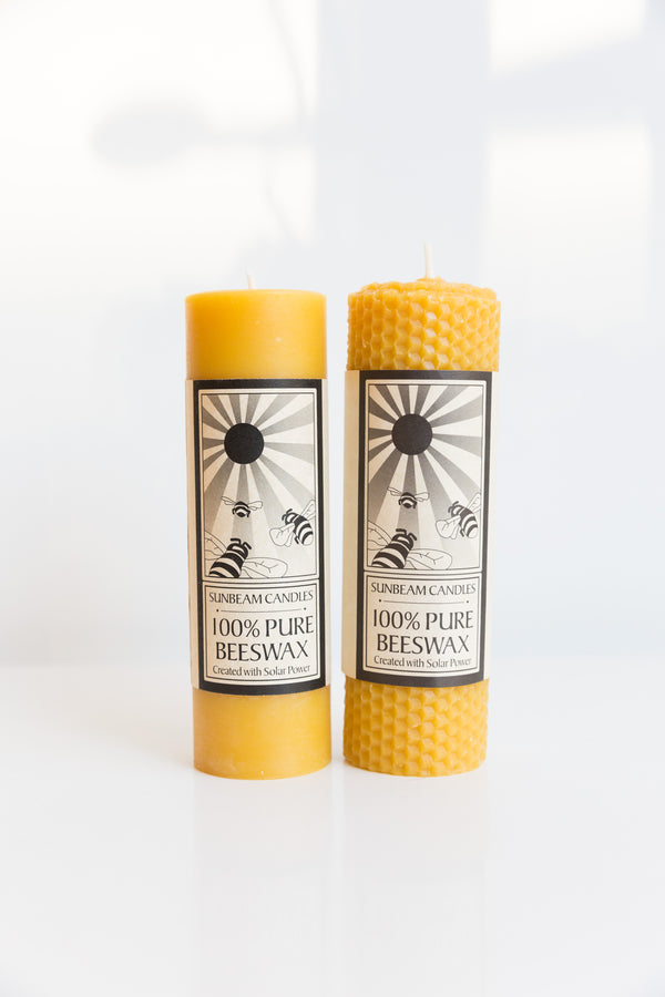 Sunbeam Candle Beeswax Honeycomb Pillar