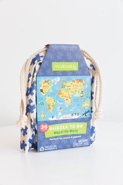 Map of the World Puzzle to Go