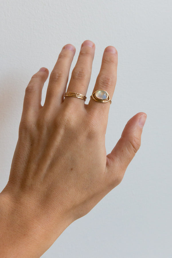 Halcyon Vision Moonstone 14k Gold Ring