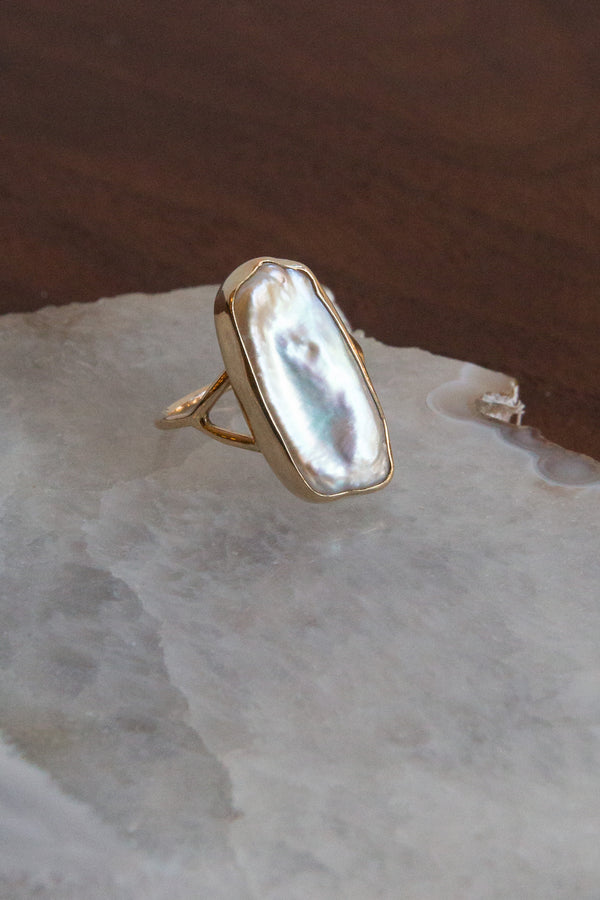 Halcyon Mar Keshi Pearl 14k Gold Ring