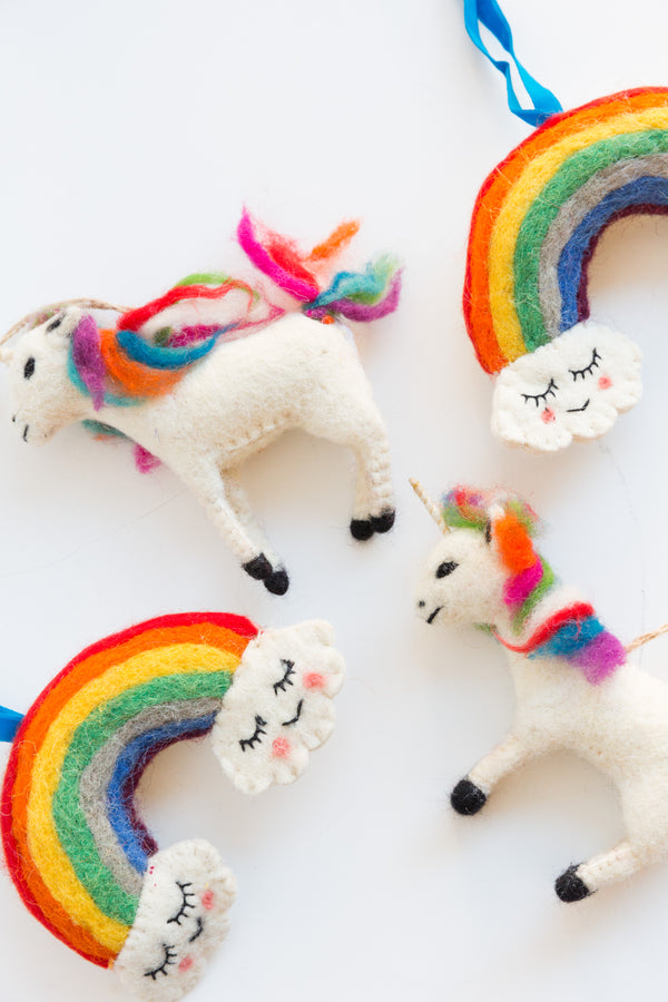 Cody Foster & Co Unicorn Ornaments