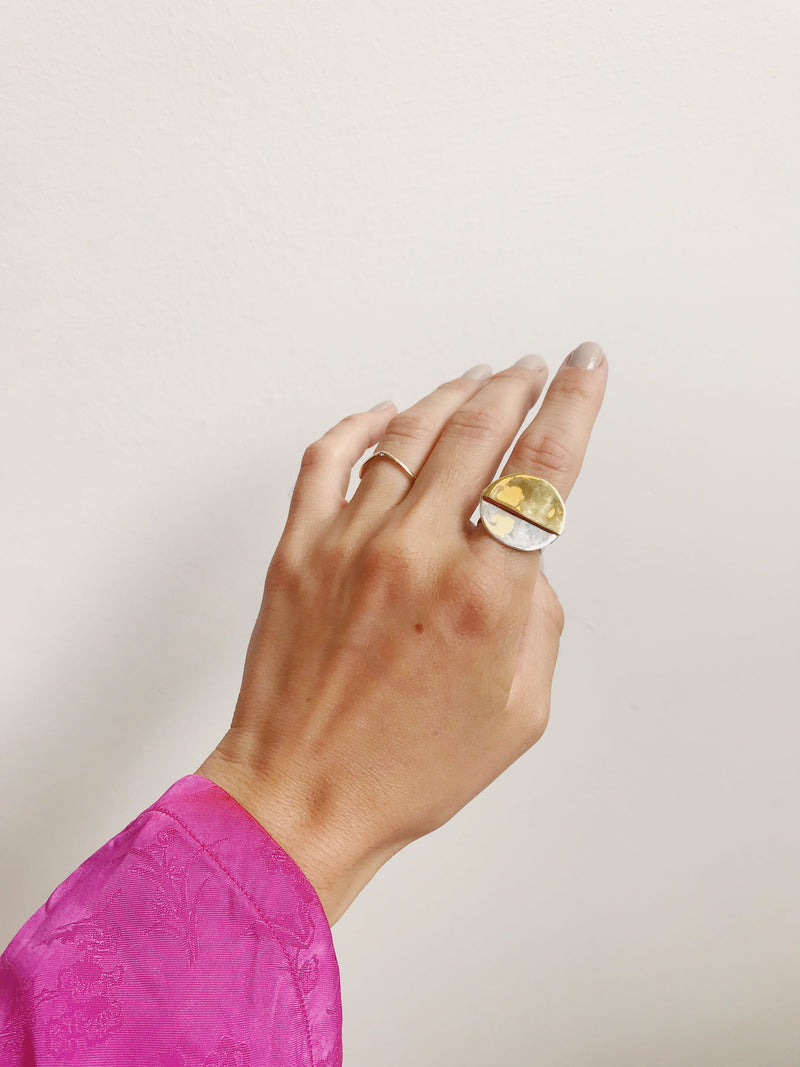 M+A Half Moon Ring Small