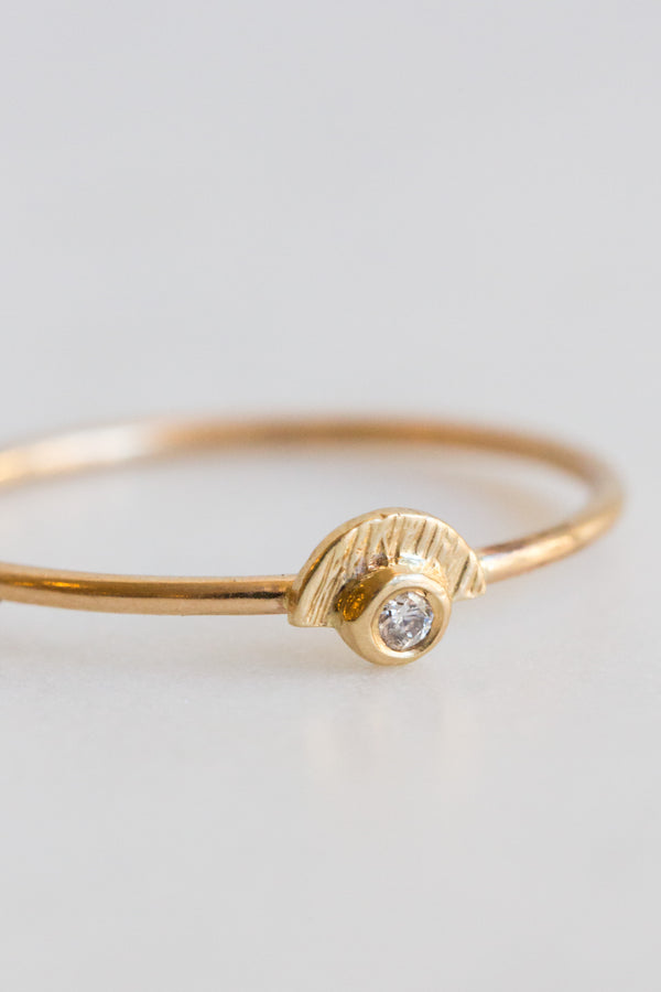 Lio + Linn 14k Sunshine Diamond Ring