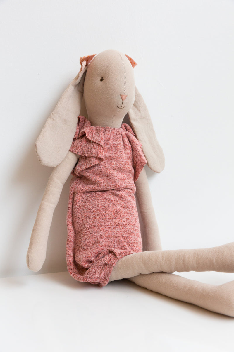 Maileg Rabbit in a Knitted Dress