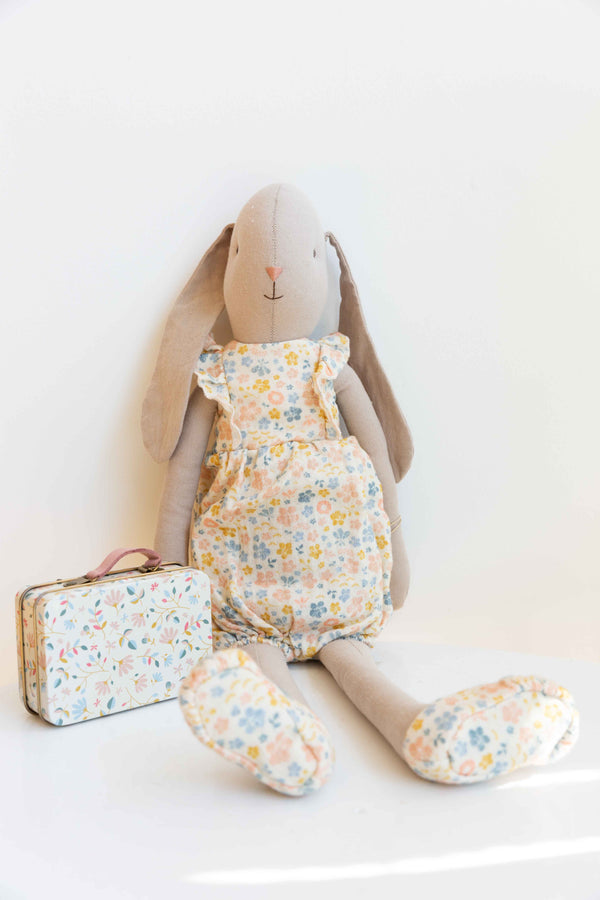 Bunny in a flower suit, size 4