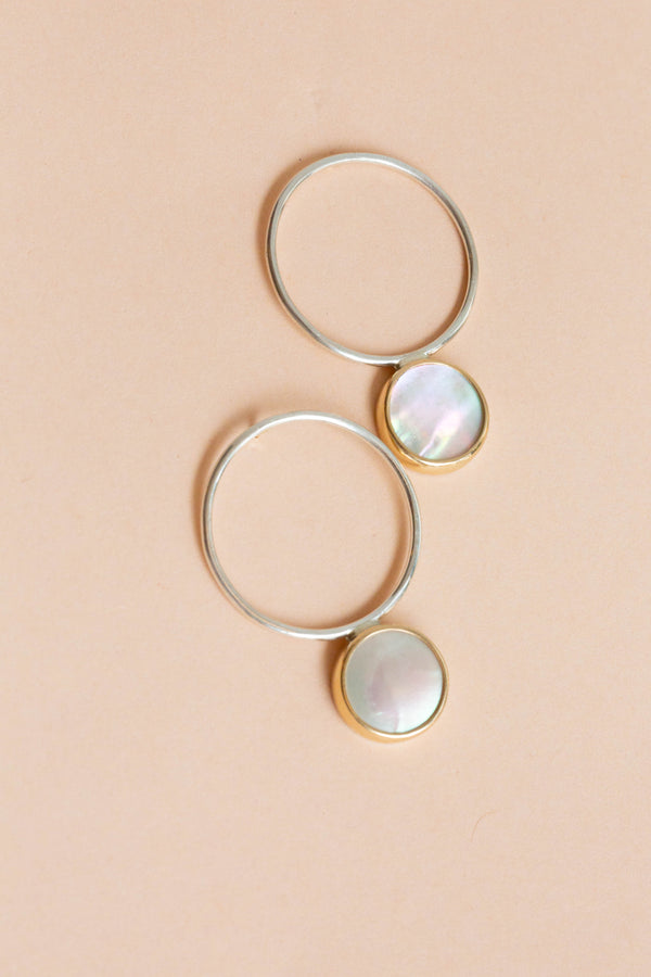 Halcyon Medallion Hoops