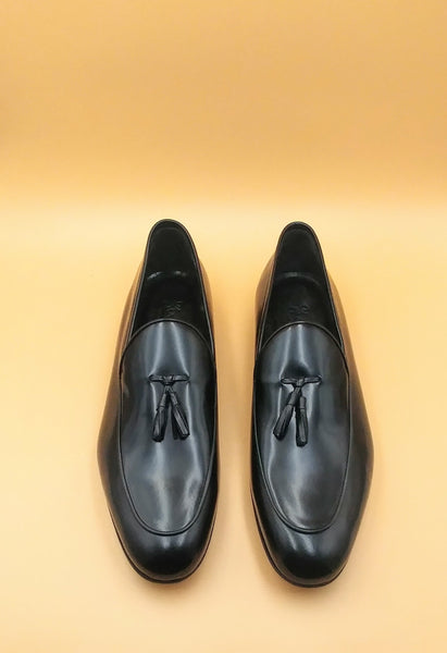 Black Tasseled Loafers