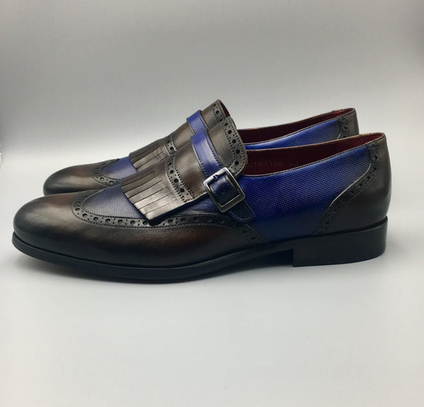 Brown- Purple Monkstrap