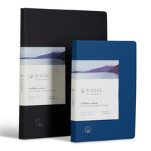 Load image into Gallery viewer, Minbøk black extra-large refillable notebook + blue large refillable notebook