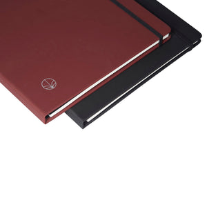 Minbøk burgundy + black extra-large refillable notebook