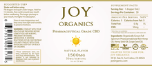 Load image into Gallery viewer, Joy Organics CBD Oil Tincture - 1500mg