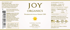 Joy Organics CBD Oil Tincture - 250mg