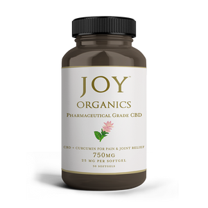 Joy Organics CBD + Curcumin Softgels
