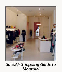 SwissAir Shopping Guide to Montreal