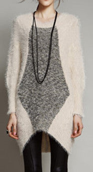 chandail avant de diamant à manches longues/long sleeve sweater with diamond shape