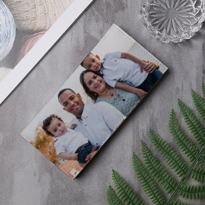 Custom PU Leather Long Bifold Photo Wallet