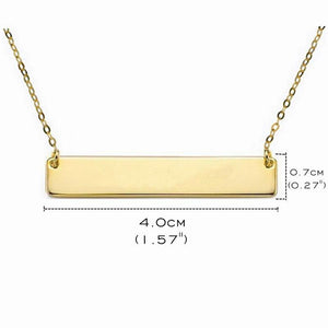 Custom Bar Gold Pendant Necklace