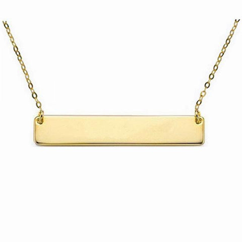 Image of Shop Custom Bar Gold Pendant Necklace From Joseod Jewelry