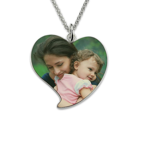 Shop Engraved Heart Photo Necklace From Joseod Jewelry