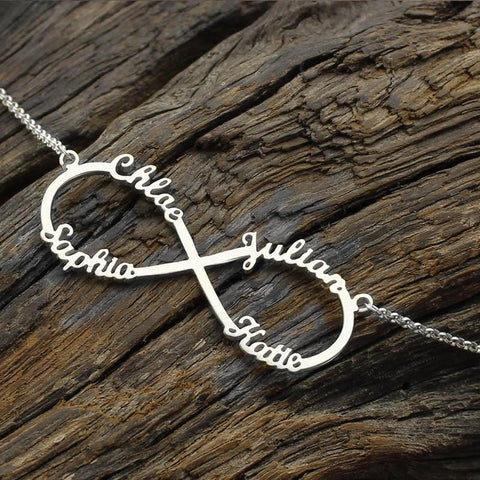 Buy Custom Infinity 4 names Necklace From Joseod Jewelry