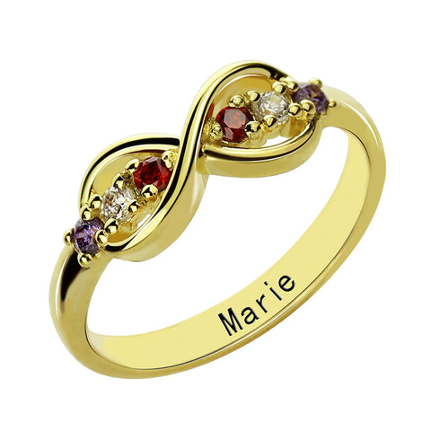 Image of Shop Infinity Birthstone Custom Ring From Joseod Jewelry