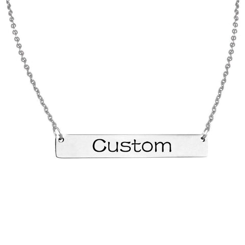 Buy Personalized Engraved Nameplate Patterned Charm From Joseod Jewelry