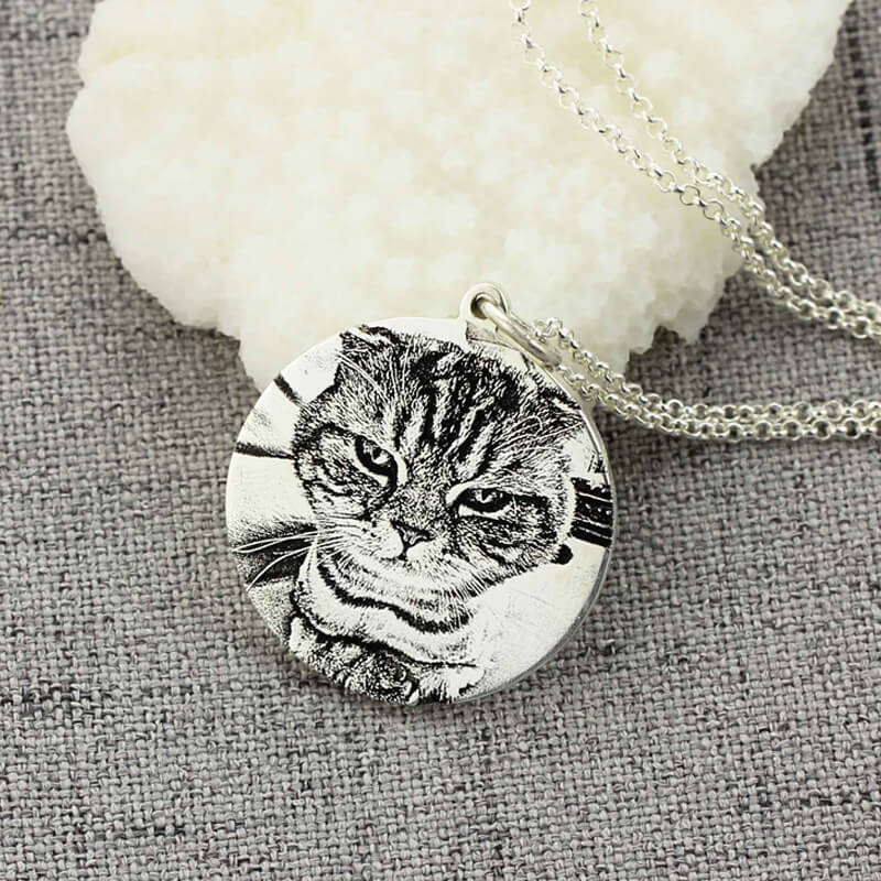Shop Pet Photo Engraved Necklace From Joseod Jewelry