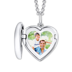 Personalized Photo Heart Locket Necklace