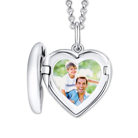 Shop Personalized Photo Heart Locket Necklace From Joseod Jewelry