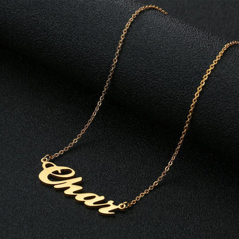 Image of Buy 14k Gold Stainless Name Necklace From Joseod Jewelry