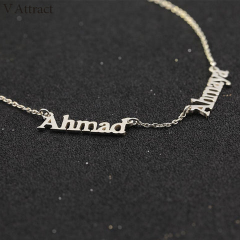 Image of Shop Personalized Couple Two Name Necklace From Joseod Jewelry