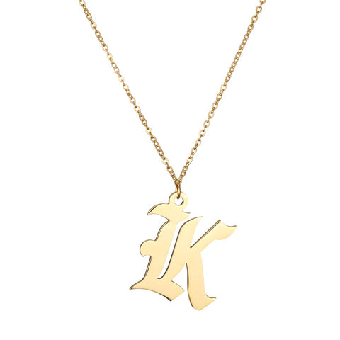 Image of Buy Engraved Initial Ethiopian Gold Name Necklace From Joseod Jewelry