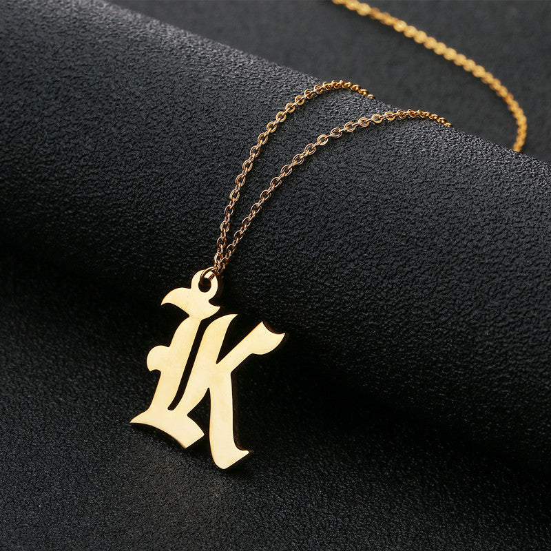 Buy Engraved Initial Ethiopian Gold Name Necklace From Joseod Jewelry