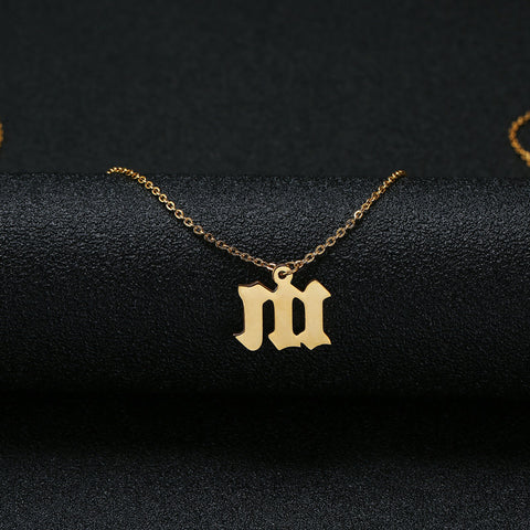 Shop Engraved Initial Ethiopian Gold Name Necklace From Joseod Jewelry