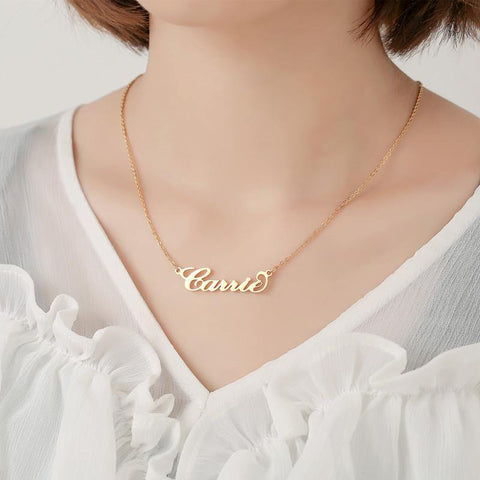 Shop Carrie Style Name Necklace From Joseod Jewelry